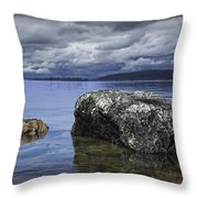 Rocks In The Water On A Lake In Acadia National Park Throw Pillow
