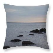 Rocks In Water Throw Pillow