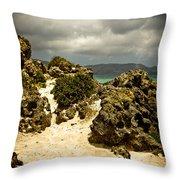 Rocks Of Elafonisi Throw Pillow