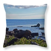 Rocks Of Lake Superior Throw Pillow