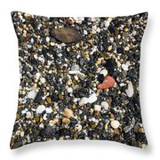 Rocks On The Beach Throw Pillow by Steven Ralser
