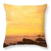 Rocks On The Coast, Mendocino Throw Pillow