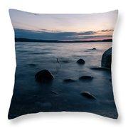 Rocks At A Shore Throw Pillow