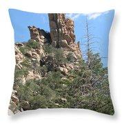 Rocks Reaching To The Sky Throw Pillow