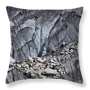 Rocks Resting On The Ghulkin Glacier Throw Pillow