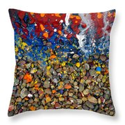 Rocks Splattered With Paint Throw Pillow by Amy Cicconi