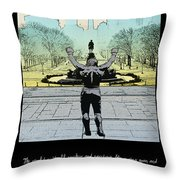 Rocky - All Sunshine And Rainbows Throw Pillow by Bill Cannon