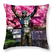 Rocky Among The Cherry Blossoms Throw Pillow
