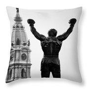 Rocky And Philadelphia Throw Pillow
