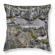 Rocky Arctic Shoreline Throw Pillow