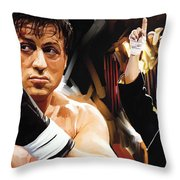 Rocky Artwork 2 Throw Pillow