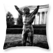 Rocky Balboa Throw Pillow by Bill Cannon