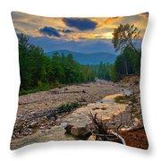 Rocky Branch Sunset Throw Pillow
