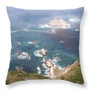 Rocky California Coast Throw Pillow