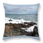 Rocky Coast Throw Pillow