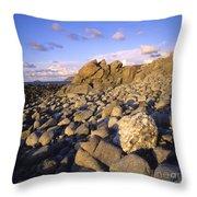 Rocky Coast. Normandy. France. Europe Throw Pillow by Bernard Jaubert