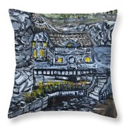Rocky Cottage Throw Pillow
