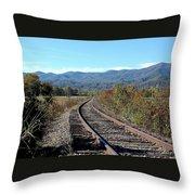 Rocky Creek Railroad Throw Pillow