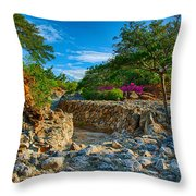 Rocky Garden Walk Throw Pillow
