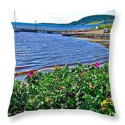 Rocky Harbour Roses-nl Throw Pillow