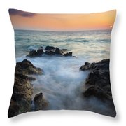 Rocky Inlet Sunset Throw Pillow by Mike  Dawson