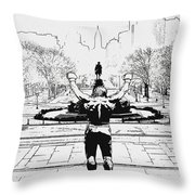Rocky Is Philadelphia Throw Pillow by Bill Cannon