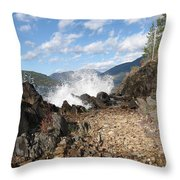 Rocky Ledges Throw Pillow