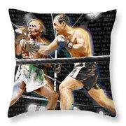Rocky Marciano V Jersey Joe Walcott Quotes Throw Pillow