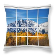 Rocky Mountain Autumn High White Picture Window Throw Pillow