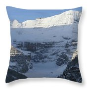 Rocky Mountain Blue Throw Pillow