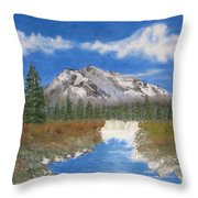 Rocky Mountain Creek Throw Pillow