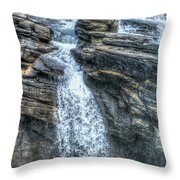 Rocky Mountain Falls Throw Pillow