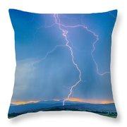 Rocky Mountain Foothills Lightning Strikes 2 Hdr Throw Pillow