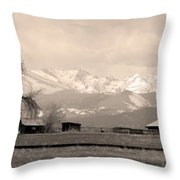 Rocky Mountain Lafayette Sepia Views Throw Pillow
