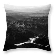 Rocky Mountain Morning Throw Pillow