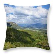 Rocky Mountain National Park Panorama Throw Pillow