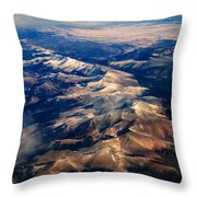 Rocky Mountain Peaks From Above Throw Pillow
