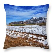 Rocky Mountain Ranch Throw Pillow