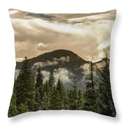Rocky Mountain Red Throw Pillow