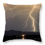 Rocky Mountain Thunderstorm  Throw Pillow