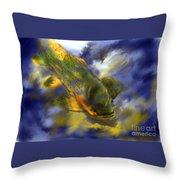 Rocky Mountain Trout  Throw Pillow