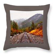 Rocky Mountaineer Throw Pillow