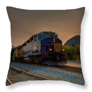 Rocky Mountaineer Sunrise Throw Pillow