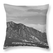 Rocky Mountains Flatirons And Longs Peak Panorama  2 Throw Pillow