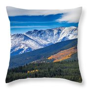 Rocky Mountains Independence Pass Throw Pillow by James BO  Insogna