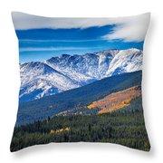 Rocky Mountains Independence Pass Throw Pillow
