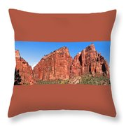 Rocky Mountains Of Zion Throw Pillow