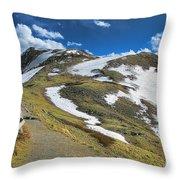 Rocky Mountains Path Throw Pillow