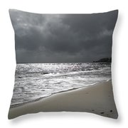 Rocky Neck Beach Throw Pillow