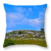 Rocky New England Hill Throw Pillow